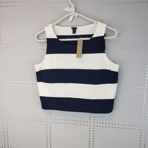 NWT J Crew Cropped Stripped Top